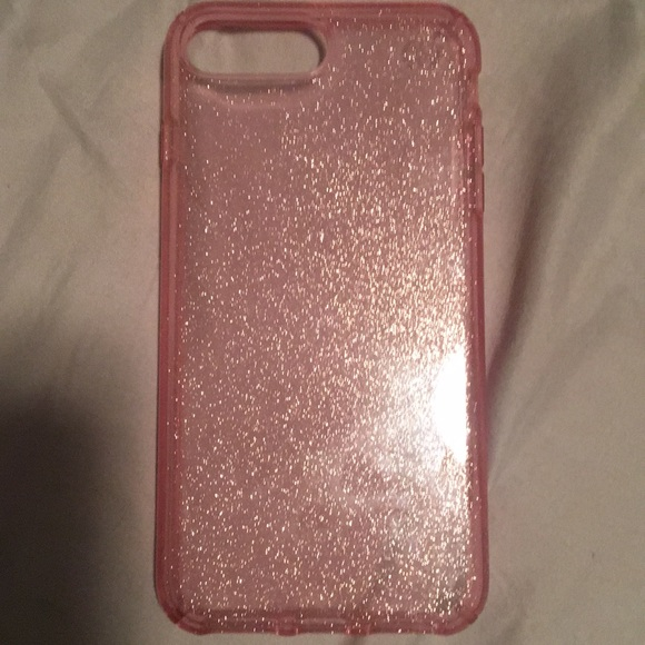 sale retailer cfdb6 f21a2 Pink glitter speck case for iPhone 6/7 Plus